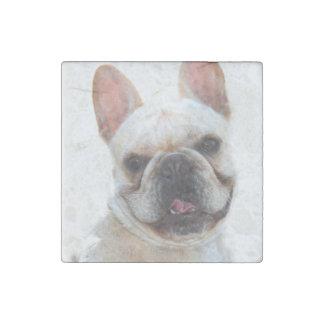 Dogo francés imán de piedra