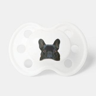 Dogo francés negro lindo chupetes de bebe