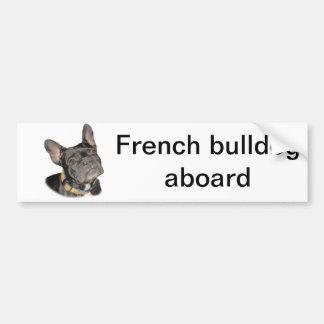 Dogo francés pegatina para auto