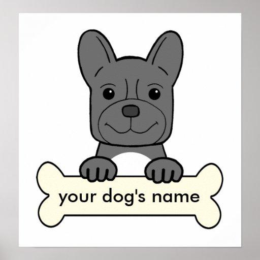 Dogo francés personalizado impresiones