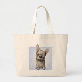 Dogo francés (piel de ante) bolsas de mano