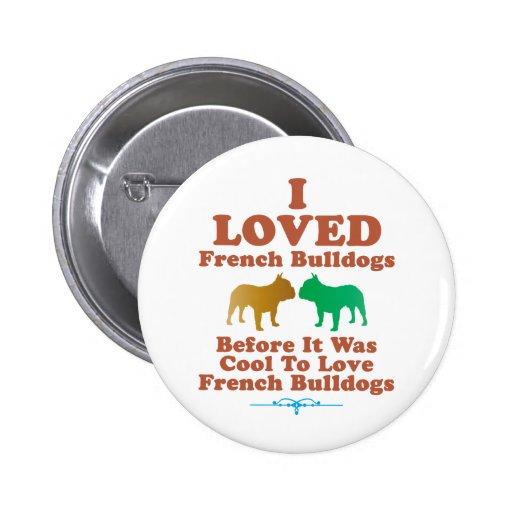 Dogo francés pin redondo 5 cm
