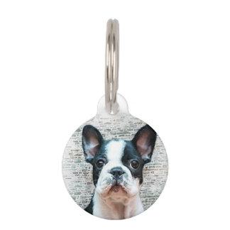 Dogo francés placas para mascotas
