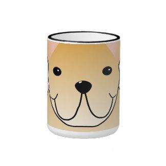Dogo francés poner crema Dibujo animado del perro Tazas De Café