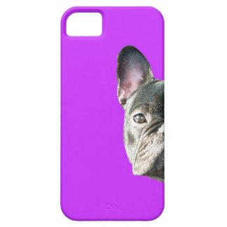 "Dogo francés ""que mira a escondidas"" el caso de iPhone 5 carcasas"