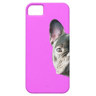 "Dogo francés ""que mira a escondidas"" el caso de iPhone 5 funda"