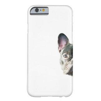 """Dogo francés """"que mira a escondidas"""" la caja del funda de iPhone 6 barely there"""
