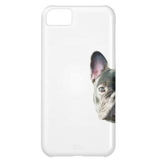 """Dogo francés """"que mira a escondidas"""" la caja del t funda para iPhone 5C"""