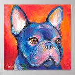 Dogo francés que pinta el poster de Svetlana Novik