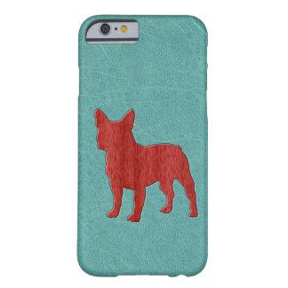 Dogo francés rojo funda para iPhone 6 barely there