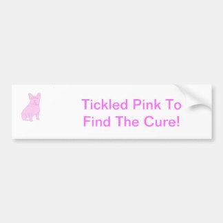 Dogo francés rosado pegatina para auto
