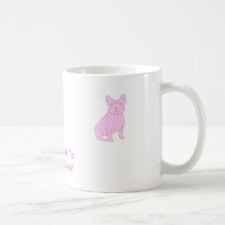 Dogo francés rosado taza clásica