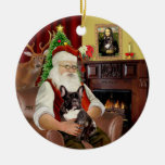 Dogo francés Santa-Brindle Ornamento De Reyes Magos