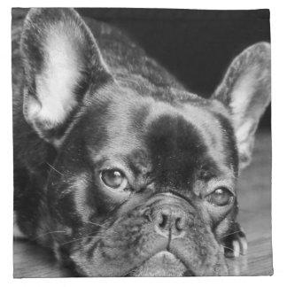 Dogo francés servilletas de papel