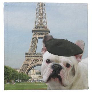 Dogo francés servilletas imprimidas