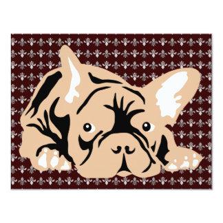 Dogo francés subió invitación 10,8 x 13,9 cm