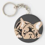 Dogo francés subió llaveros personalizados