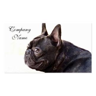 Dogo francés plantilla de tarjeta de visita