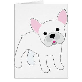 Dogo francés tarjeta de felicitación