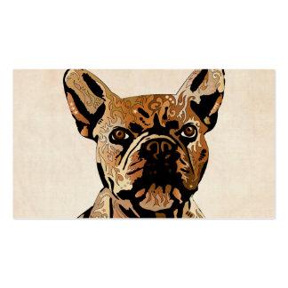 Dogo francés tarjetas de visita