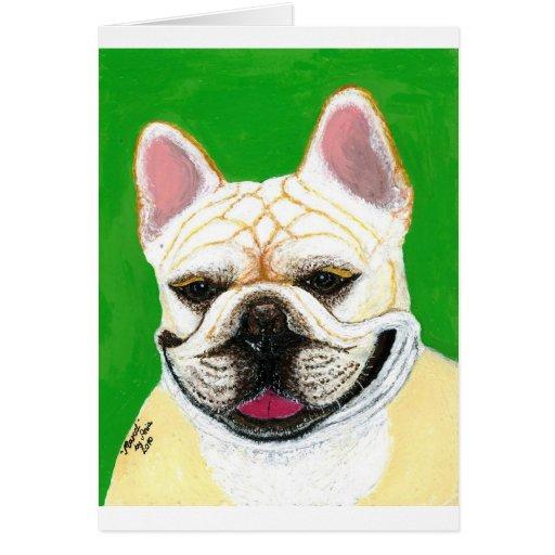 Dogo francés tarjetón