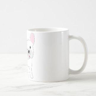 Dogo francés taza básica blanca