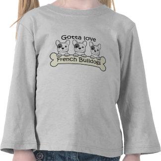 Dogo francés tres camiseta