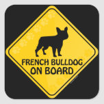 Dogo francés Xing Calcomania Cuadradas