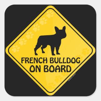 Dogo francés Xing Pegatina Cuadrada