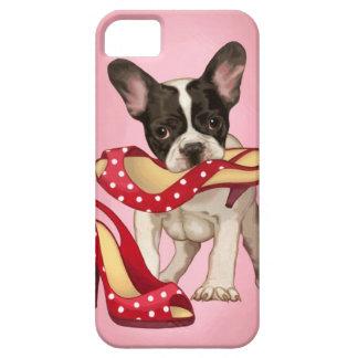 Dogo francés y zapato del lunar iPhone 5 coberturas