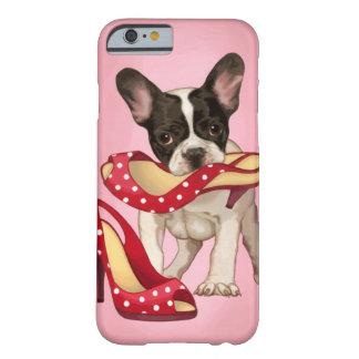 Dogo francés y zapato del lunar funda de iPhone 6 barely there