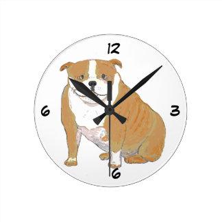Dogo grande en los relojes y los productos múltipl