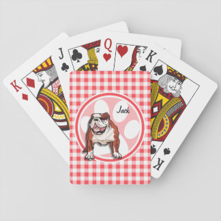 Dogo; Guinga roja y blanca Cartas De Póquer