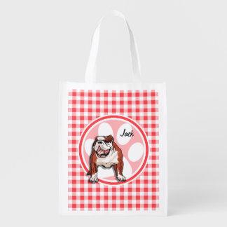 Dogo; Guinga roja y blanca Bolsas De La Compra