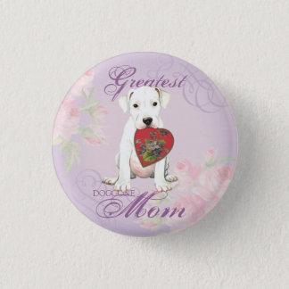 Dogo Heart Mom Pinback Button