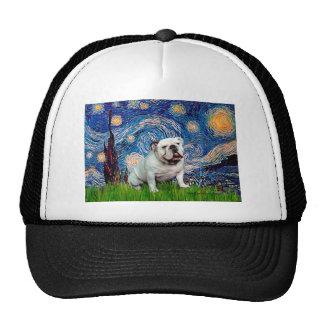 Dogo inglés 8 - noche estrellada gorras