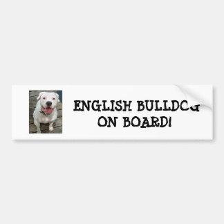 Dogo inglés a bordo pegatina para el parachoques pegatina de parachoque