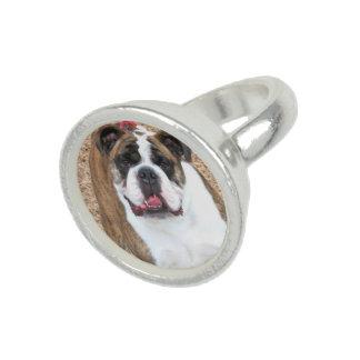 Dogo inglés anillos con foto