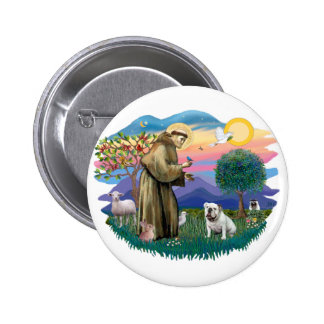 Dogo inglés (blanco) pin
