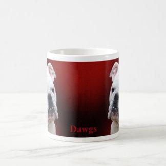 Dogo inglés blanco taza de café
