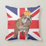 Dogo inglés con la corona y la almohada de Union J