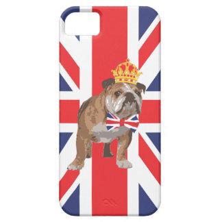Dogo inglés con la corona y la pajarita de Union J iPhone 5 Cárcasa