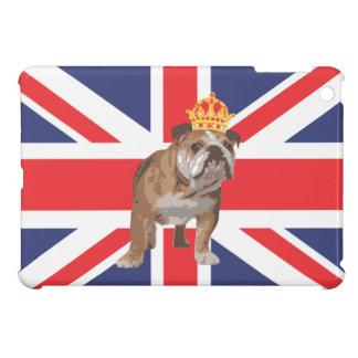 Dogo inglés con la corona y Union Jack iPad Mini Carcasa