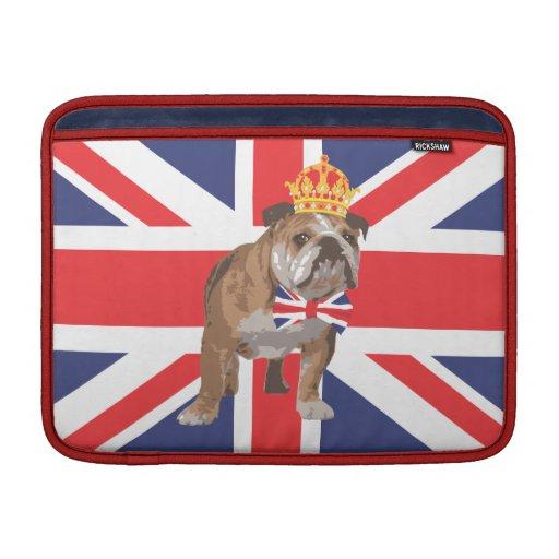 Dogo inglés con la cubierta de Macbook de la coron Funda Macbook Air
