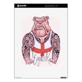 Dogo inglés con los tatuajes tribales calcomanía para iPad 2