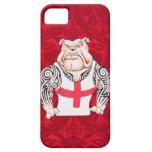 Dogo inglés con los tatuajes tribales iPhone 5 carcasas