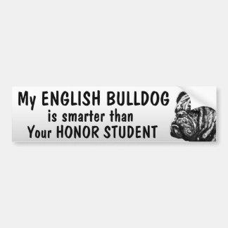 Dogo inglés - más elegante que estudiante - divert pegatina de parachoque