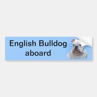 Dogo inglés pegatina para auto