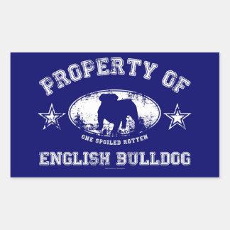 Dogo inglés pegatina rectangular