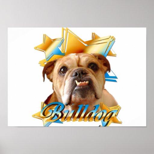 Dogo inglés poster